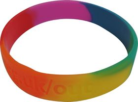 Picture of Rainbow Silicon Wristband