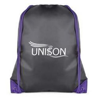 Picture of Black Drawstring Bag