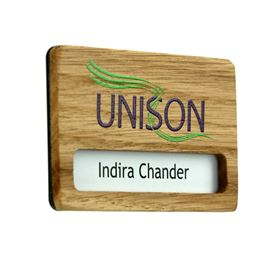 Picture of Wood Face Name Badge